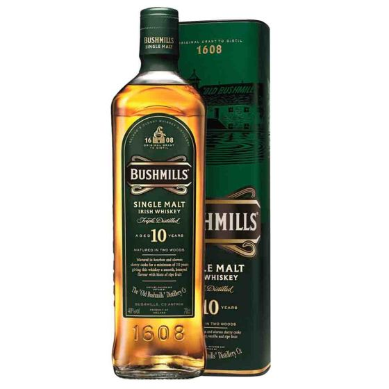 Bushmills Malt 10 Years Irish Whiskey in Giftbox