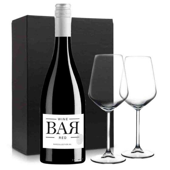Wijnpakket BAR Red met 2 glazen