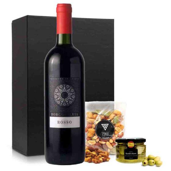 VrijMiBo borrelpakket met rode wijn