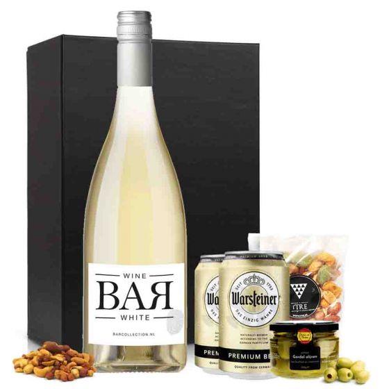 VrijMiBo borrelbox met wijn en bier