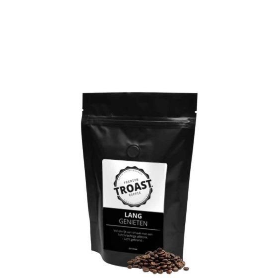 Troast koffiebonen 'lang genieten' 250gr