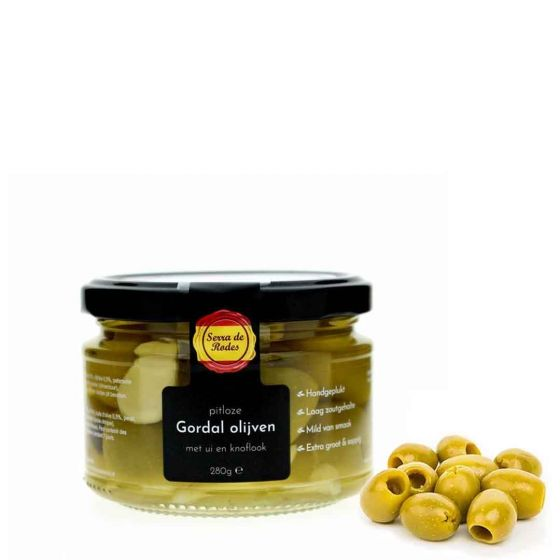Spaanse pitloze gordal olijven